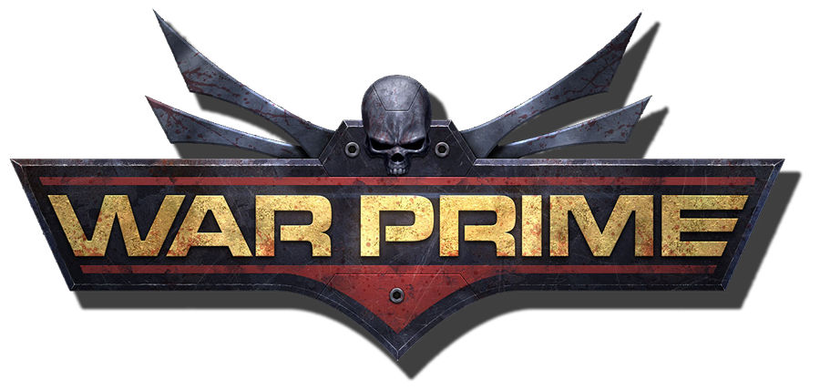 Warprime Logo, miniatures, tabletop games,