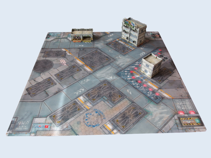 War Game Mat 48x48inch District 5 Bols Gamewire