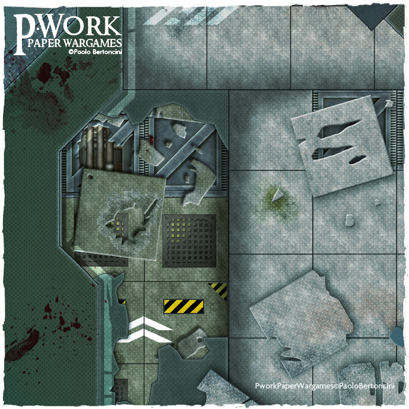 Operation Delta: Pwork Wargames Sci-Fi gaming mat