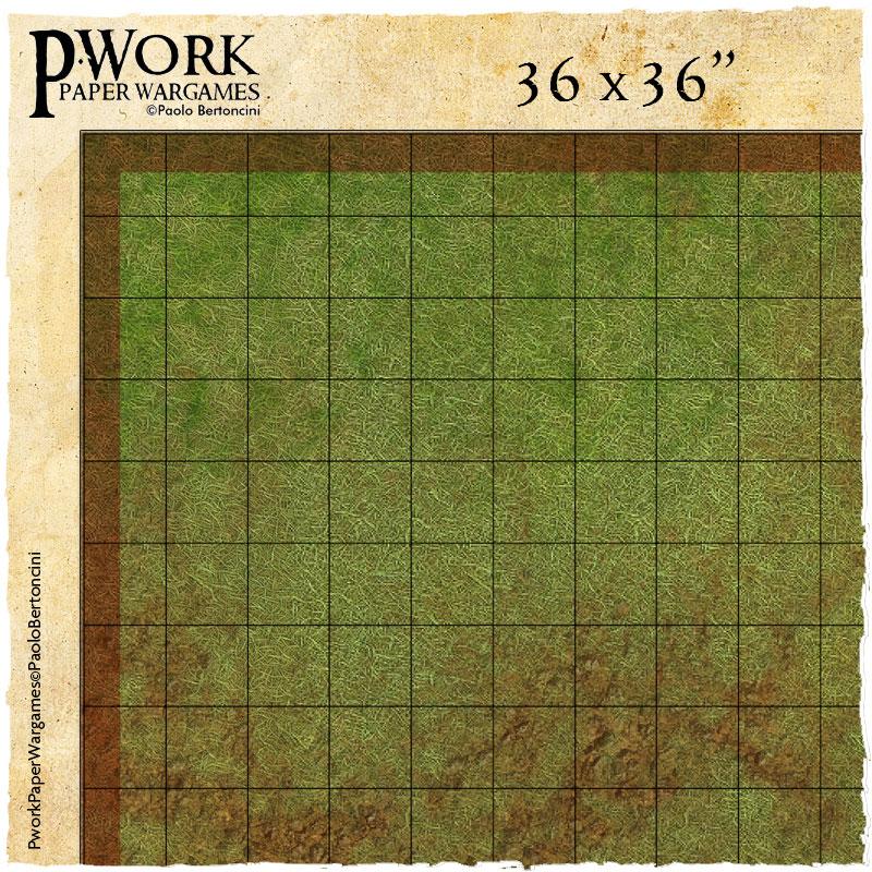RPG Combat Maps: Pwork Wargames grid gaming mats