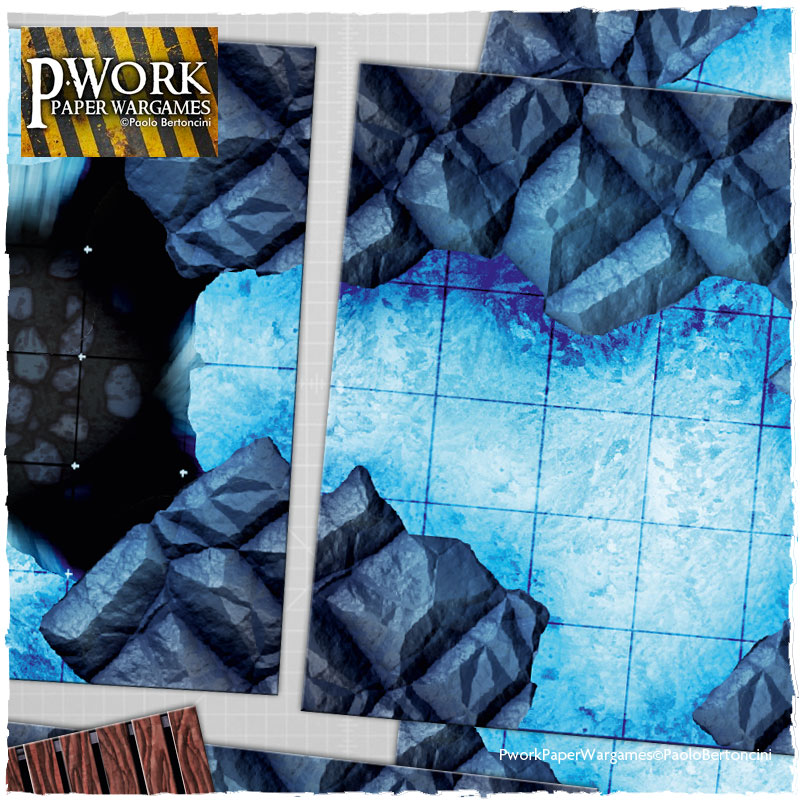 Snow Field and Ice Cave: Pwork Fantasy Tiles Set