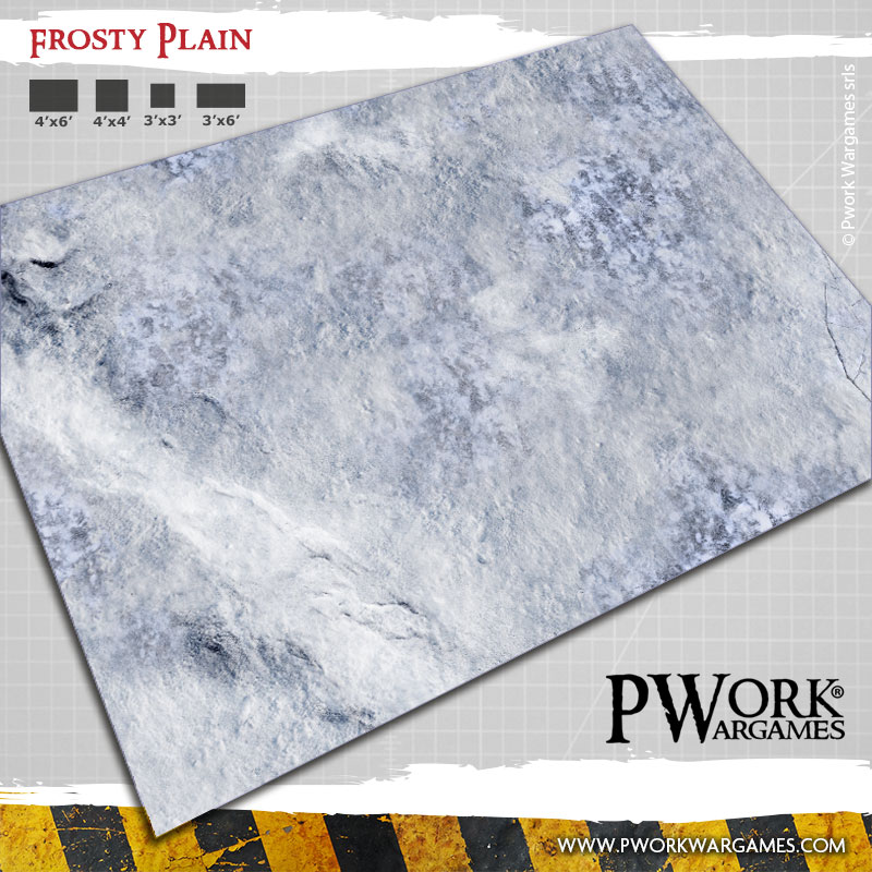 Frosty Plain: Pwork Wargames fantasy gaming mat