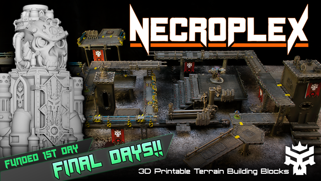 photograph regarding Printable Terrain known as Best Times! Necroplex: 3D posted sci fi terrain blocks