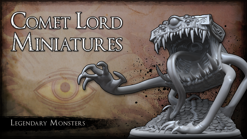 Comet Lord Miniatures: Legendary Monsters