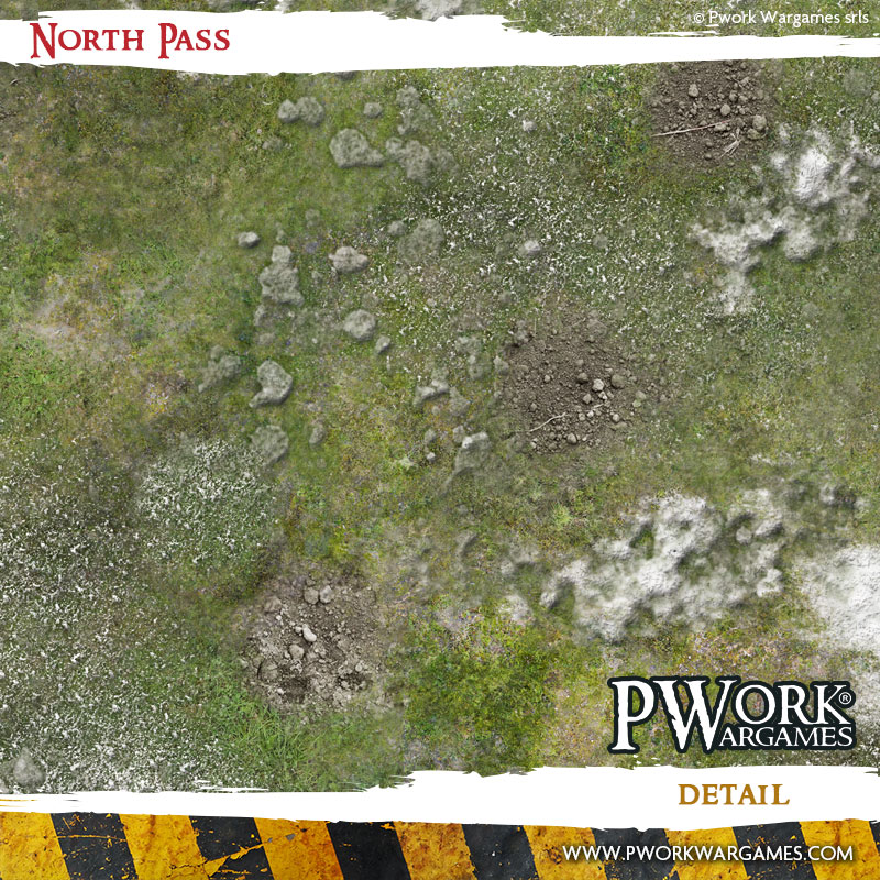 NEW RELEASE! North Pass: Pwork Wargames fantasy gaming mat
