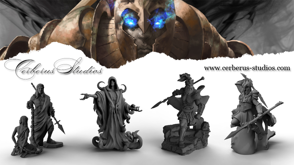 15mm Cerberus! Mini Pathfinder Dungeons and Dragons DnD 32mm Sandor the Forsaken and his Hound 28mm Resin Miniature