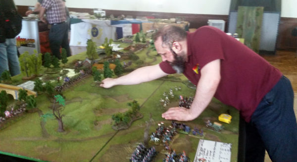 Lorenzo resets the Black Powder 2 table for another game.
