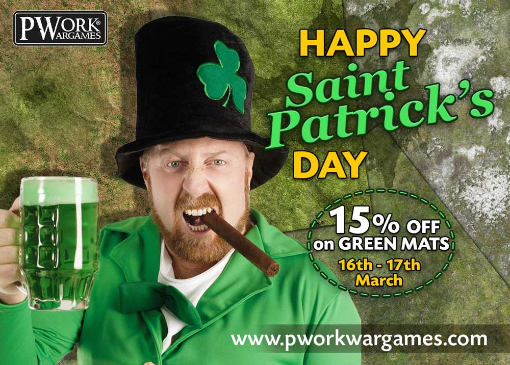 HAPPY SAINT PATRICK'S DAY FROM! 15% OFF ON GREEN MATS!