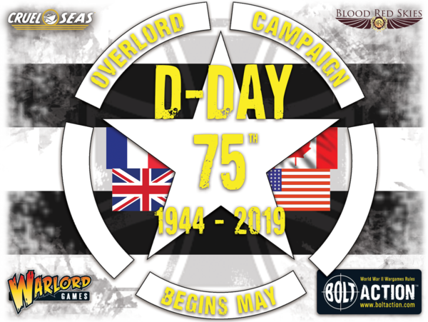 D-Day 75th Campaign with Iron Cross and Logos