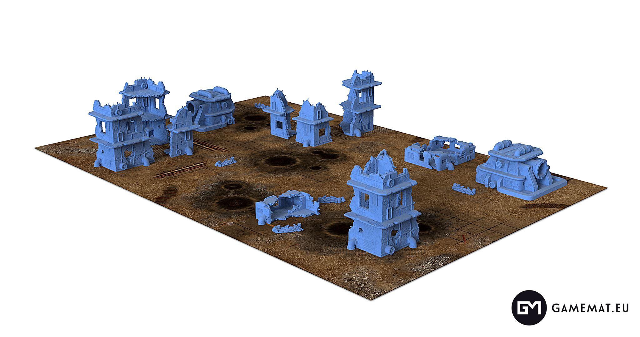 Gamemat.eu Fallout Zone terrain set, part 4!