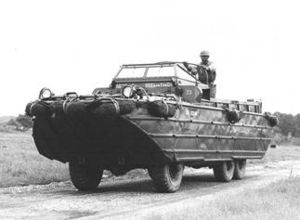 DUKW Amphibious Truck on the road