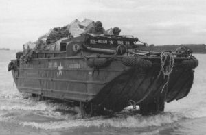 DUKW Amphibious Truck landing