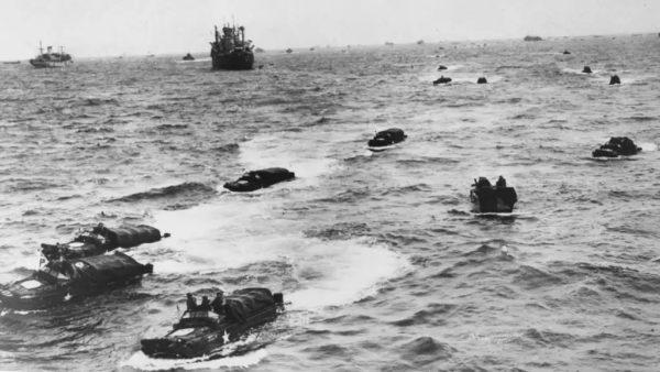 DUKWs at Normandy