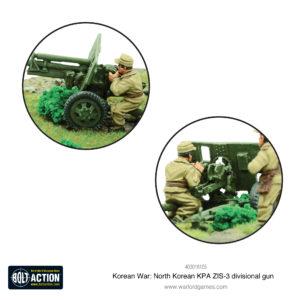 North Korean KPA ZIS-3 divisional gun