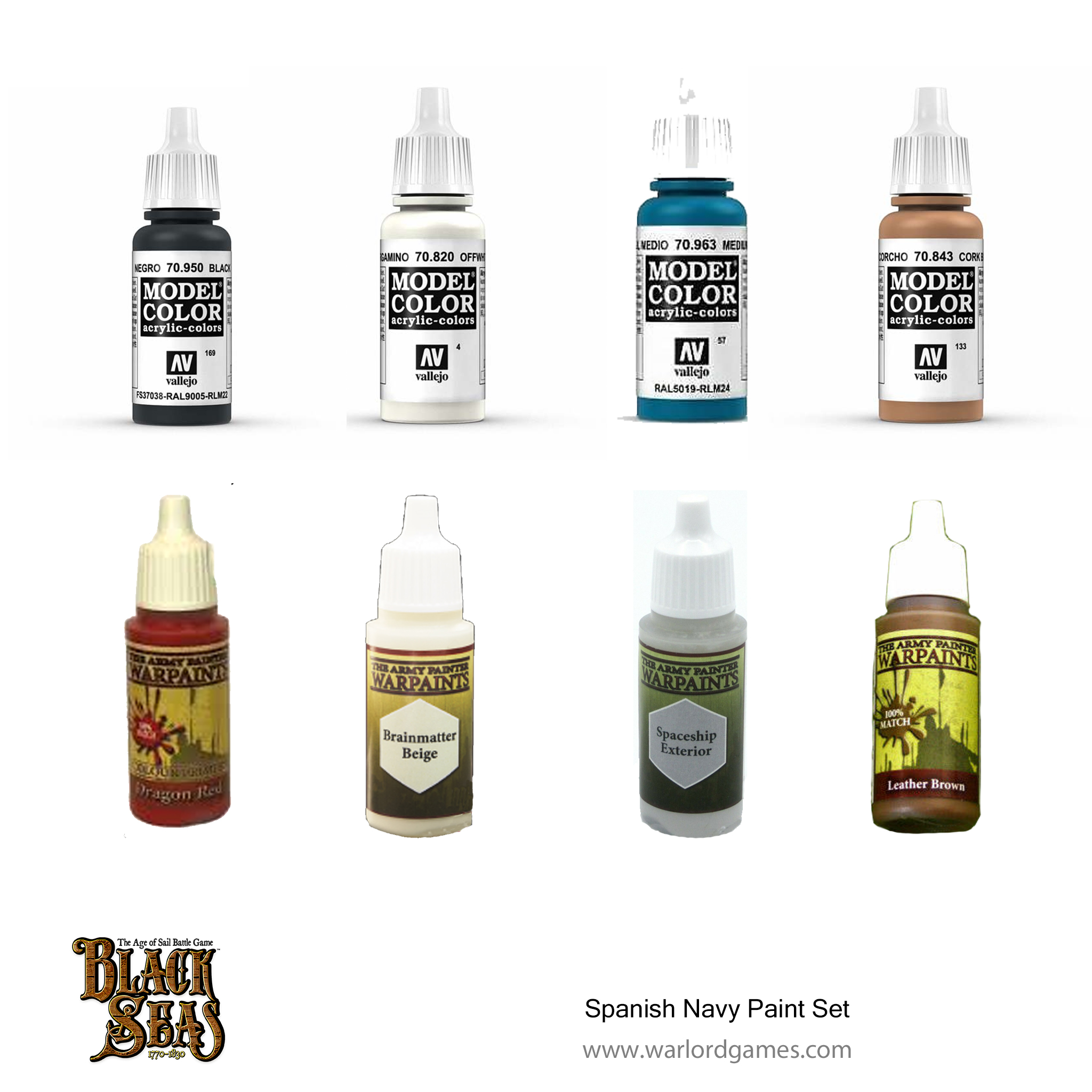 Black Seas Spanish Navy Paint Set