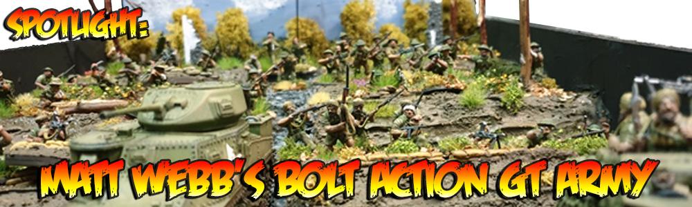 Spotlight: Matt Bell's Bolt Action GT Army