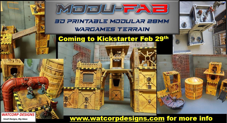 Modu-Fab – 3d Printable, Modular, Flatpack Terrain