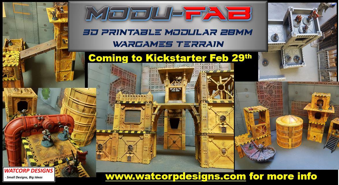 Only 15 Days to Launch of Modu-Fab Terrain Kickstarter by Watcorp Designs