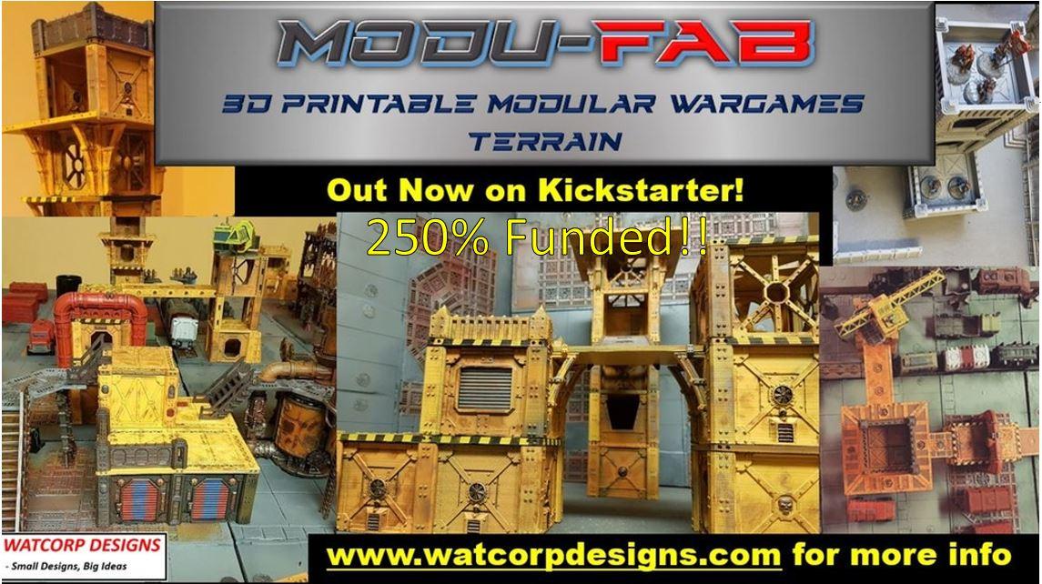 Modufab Kickstarter now 250% Funded – Modular, Flat Packable 3D Terrain