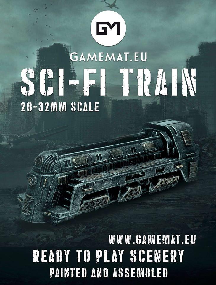 train, warhammer 40k, gamemat.eu prepainted, terrain