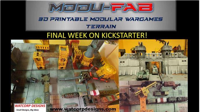 Modufab – Final few hrs – 3d printable, modular, flat pack terrain
