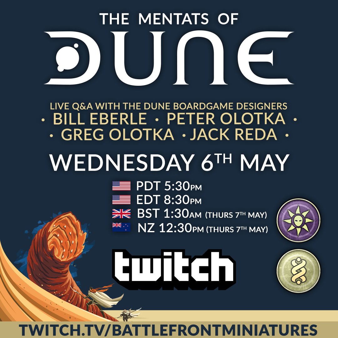 Live Twitch With Dune Designers