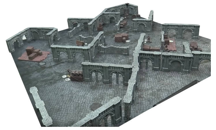 MODULAR GOTHIC WALLS- PERFECT WARCRY SCENERY – PERFECT FOR ELDER SCROLLS – PREPAINTED AND READY TO PLAY