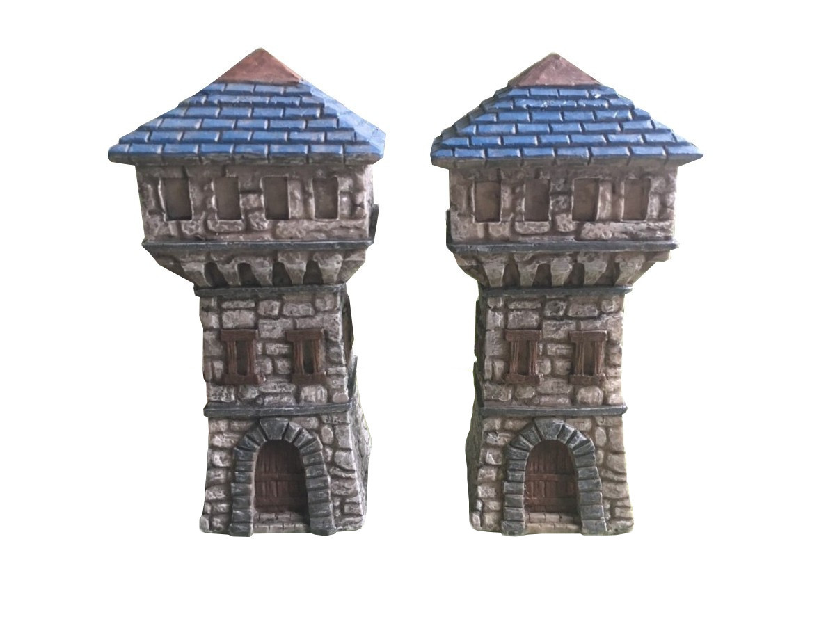 Fantasy Watchtowers and Fantasy Chapels – prepainted fantasy terrain