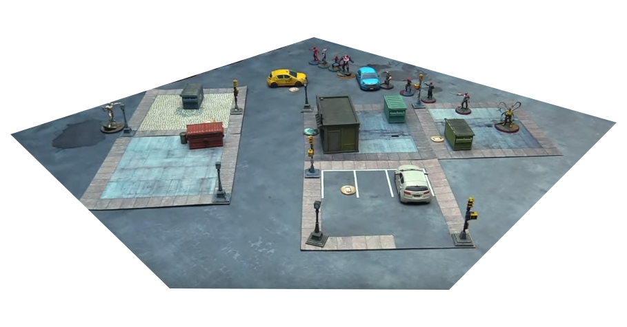 Create your own city with city neoprene mats – Ash Barker Guerrilla Miniature Games and URBANMATZ cooperation !