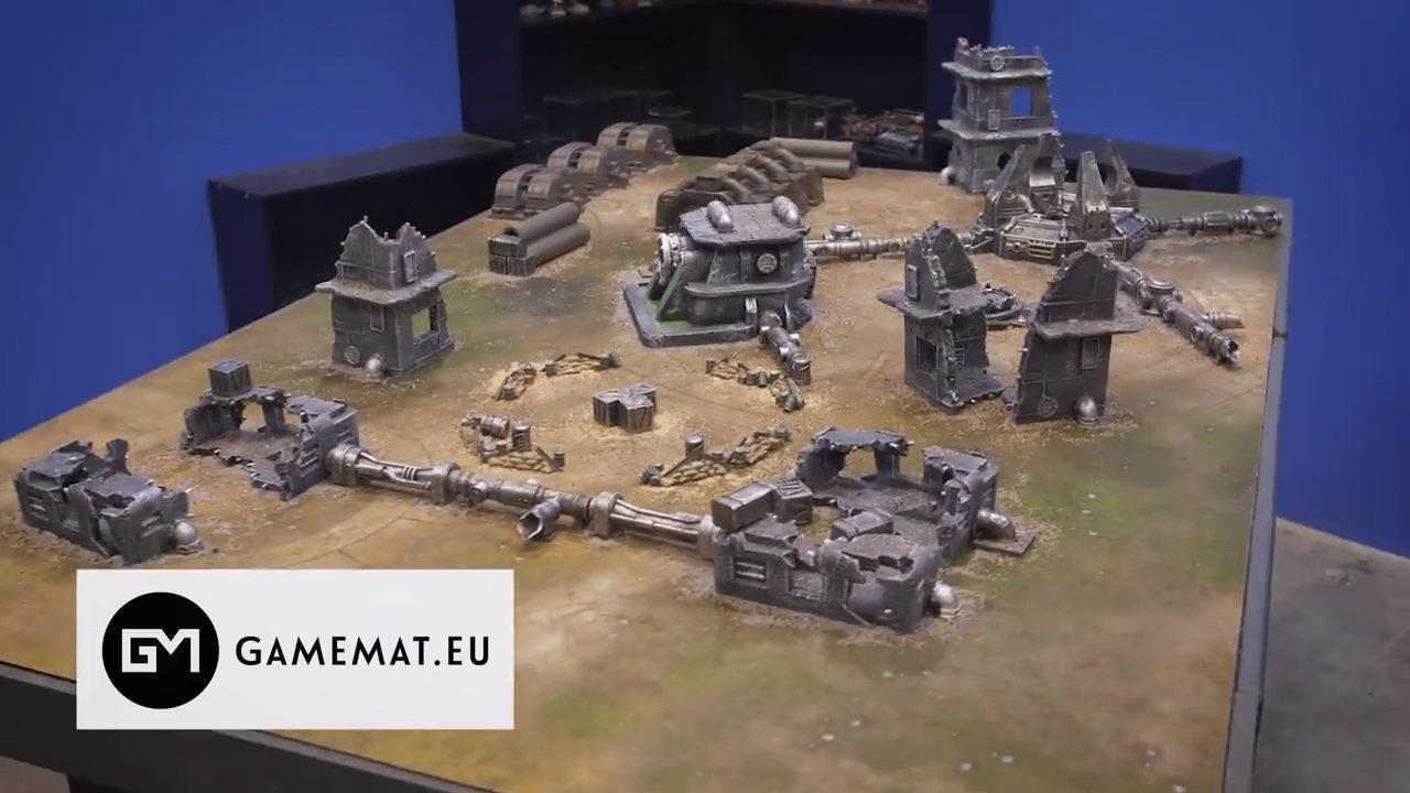 gamema.eu;battlereport; The lost world; prepainted terrain, falout zone set