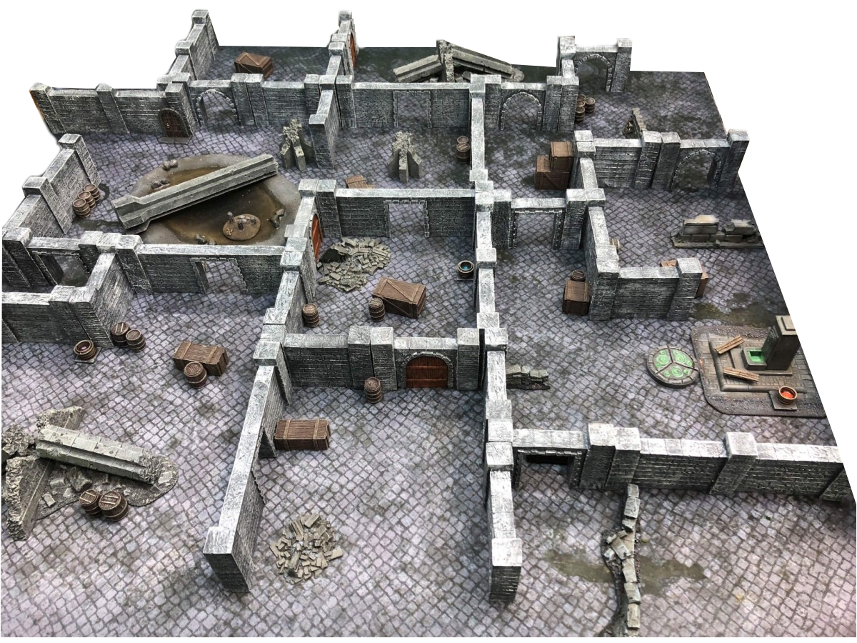 DUNGEON WALLS – WARGAMING TERRAIN – PREPAINTED AND ASSEMBLED