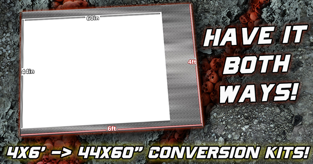 6×4′ to 44×60″ FLG Mat Conversion Kits Now Available!