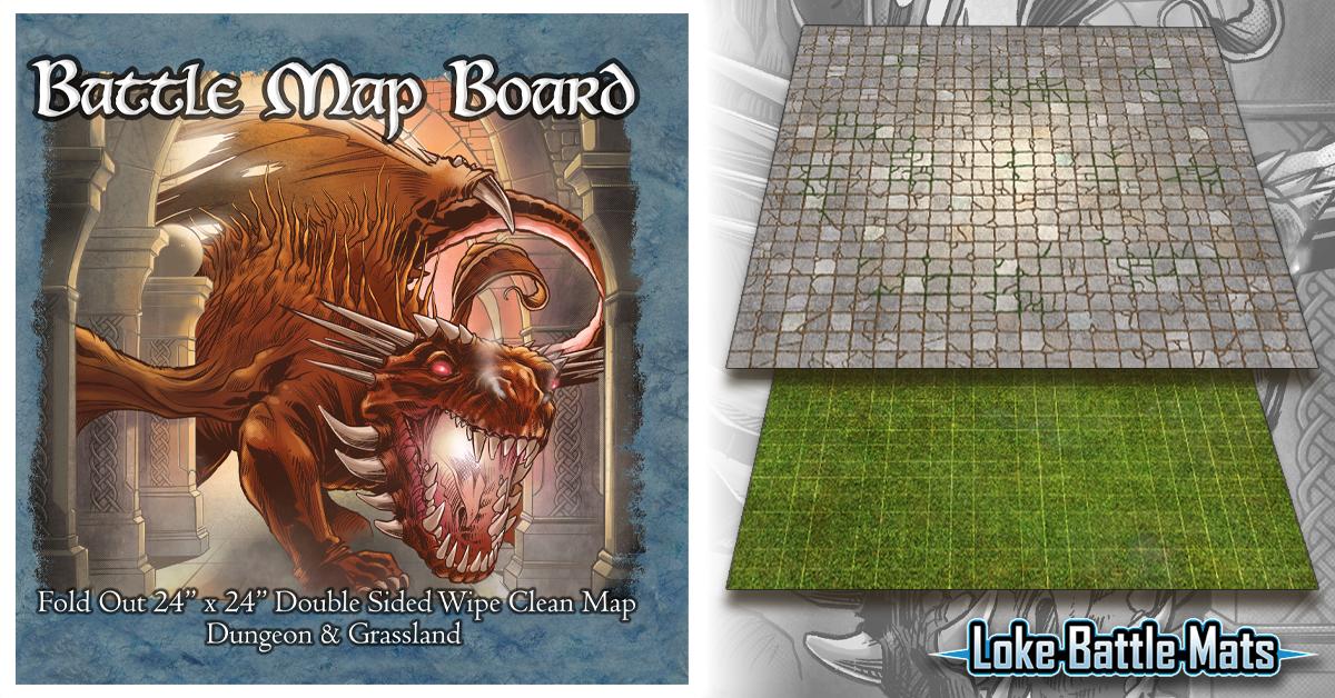 Loke launch Battle Map Board – Dungeon & Grassland!