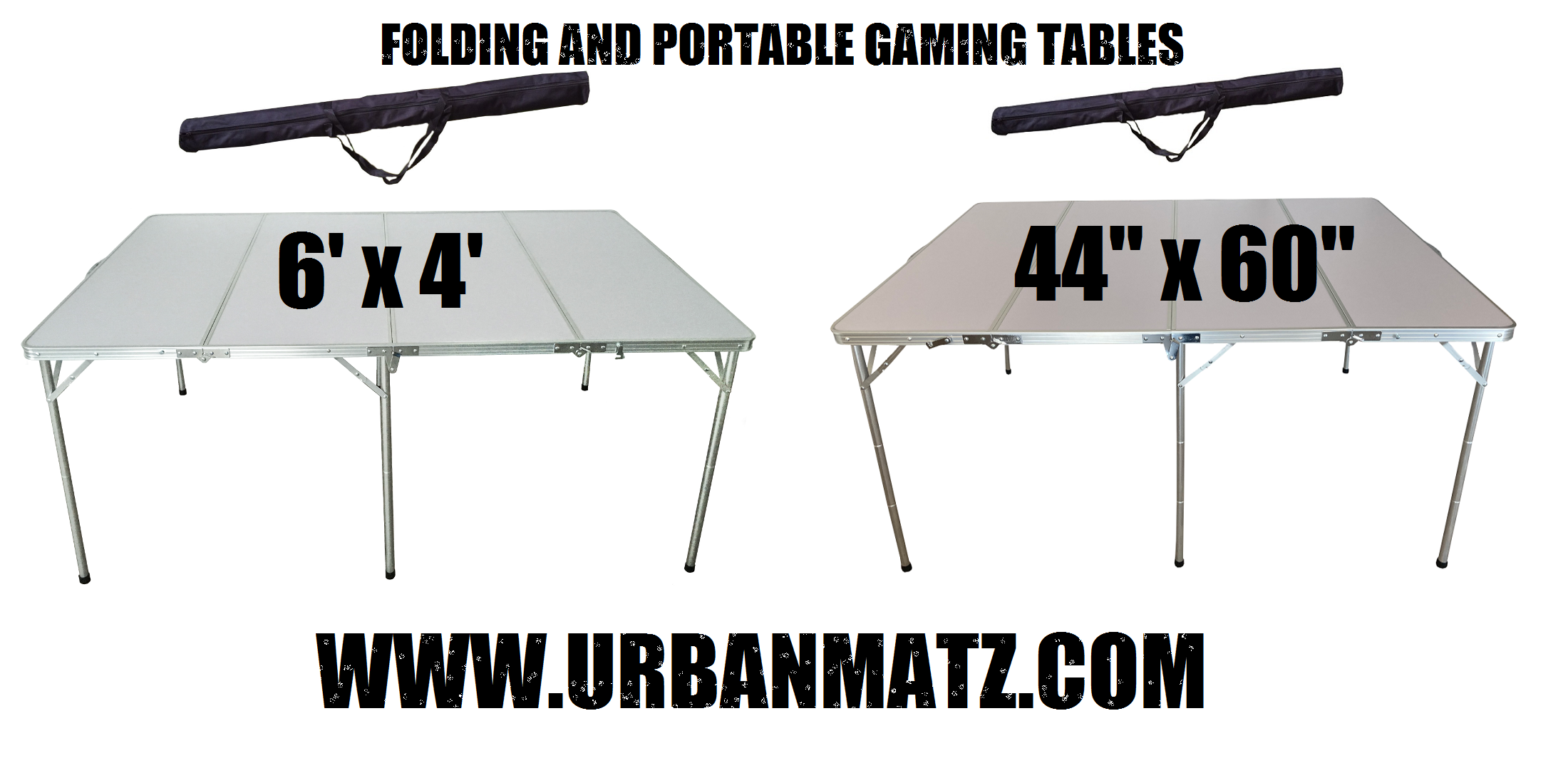 """6'x4′ and 44""""x60"""" folding and portable Gaming Tables in stock now ! Shipping worldwide !"""