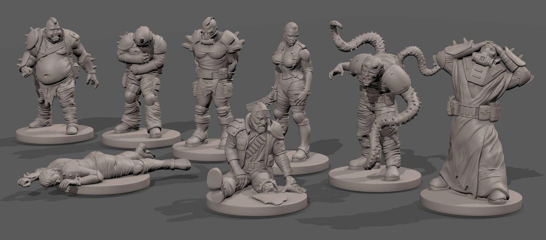 Warhammer 40k.Necromunda, miniatures, gamemat.eu