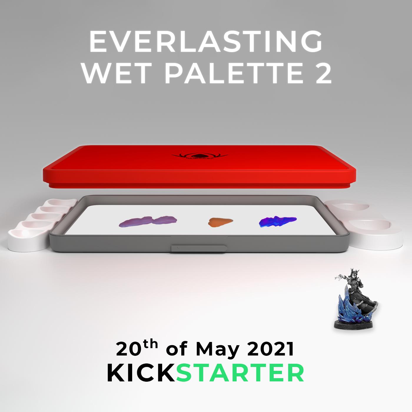 wet palette for miniature painting soon on kickstarter
