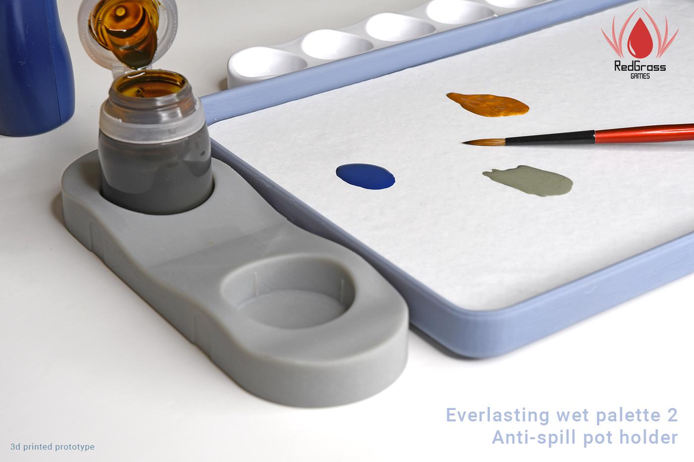 wet palette pot holder