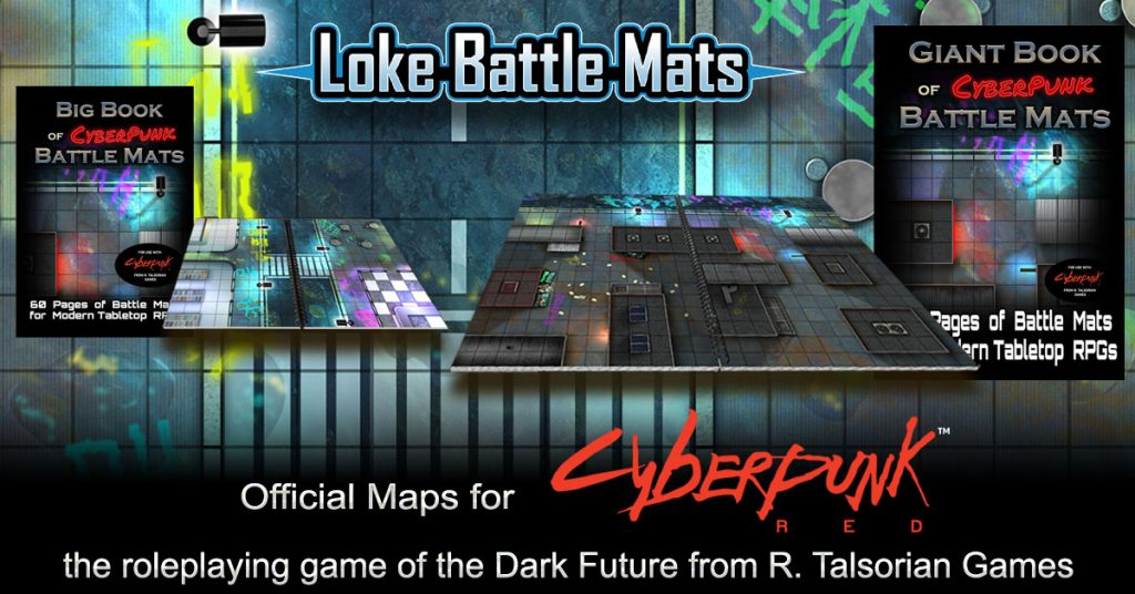 Loke Battle Mats announce partnership with R. Talsorian Games