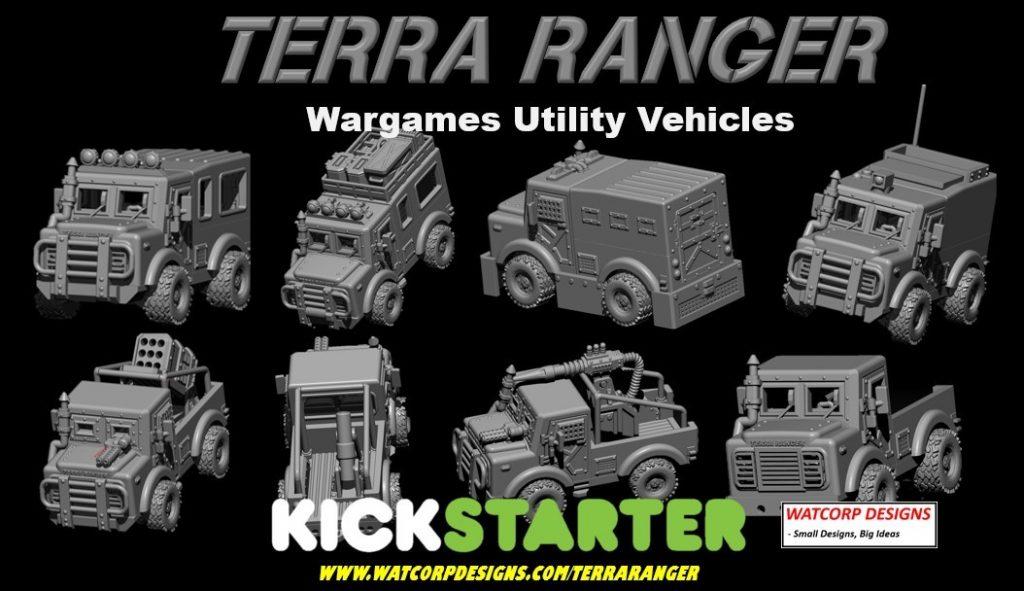 TERRA RANGER – 28MM WARGAMES TRUCKS – LAST 3 DAYS ON KICKSTARTER