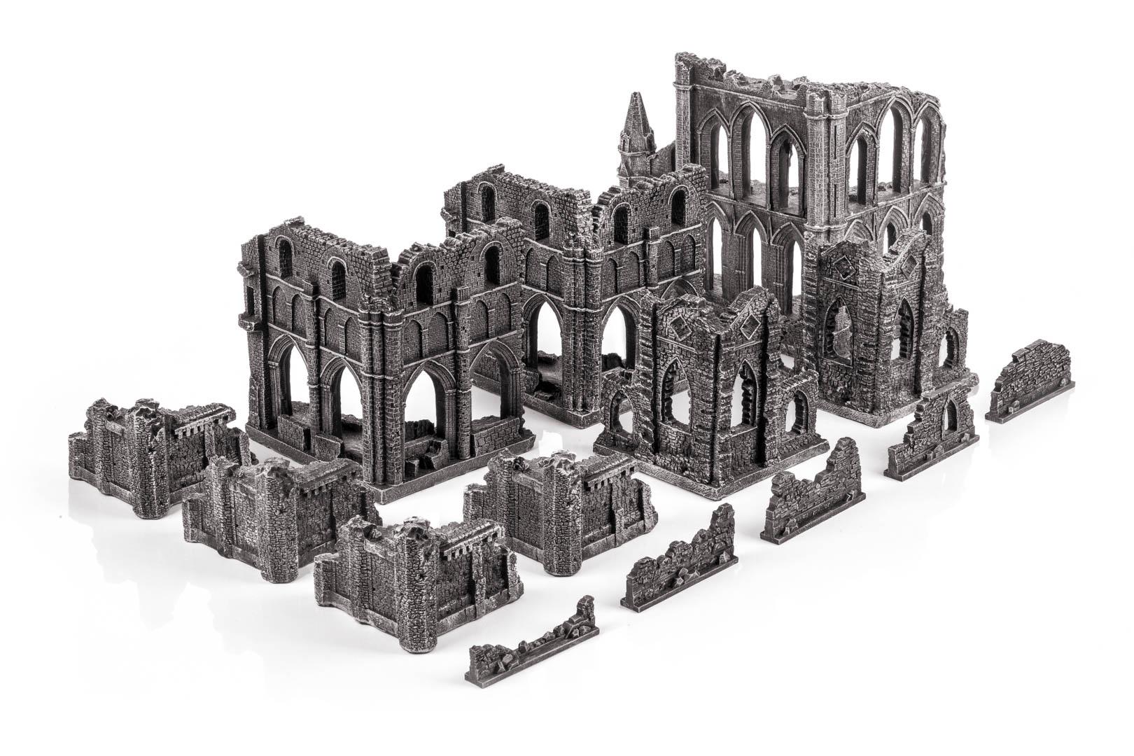 Gothic ruins set, gamemat.eu prepainted trerrain set