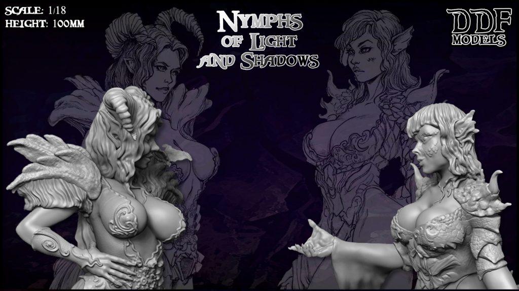 DDF Models – Nymphs of Light and Shadows KICKSTARTER LIVE